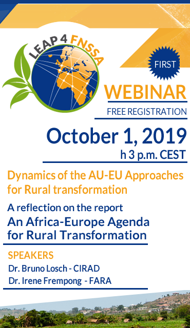 Dynamics of the AU-EU Approaches for Rural transformation | webinar