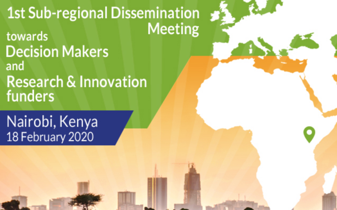 1st Subregional dissemination meeting towards decision makers and R&I funders   infographic