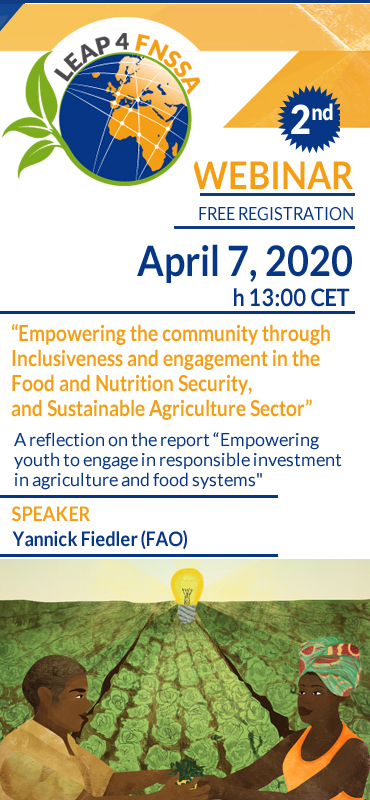 Empowering the community through Inclusiveness and engagement in the Food and Nutrition Security, and Sustainable Agriculture Sector   webinar