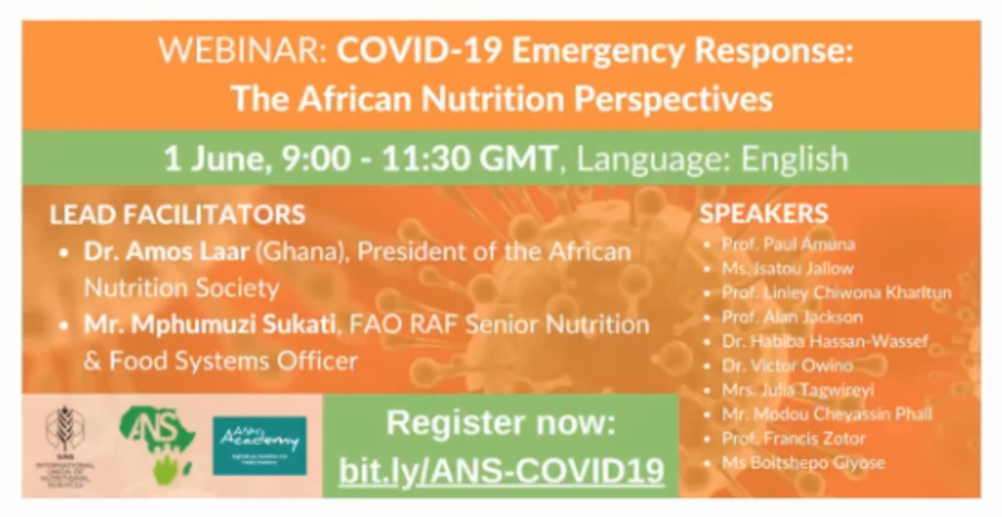 COVID-19 Emergency Response: The African Nutrition Perspectives | webinar