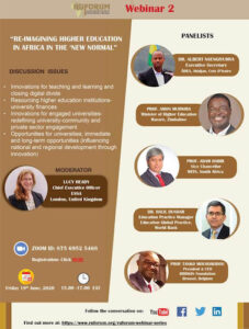 """Re-imagining higher education in Africa in the """"new normal"""""""