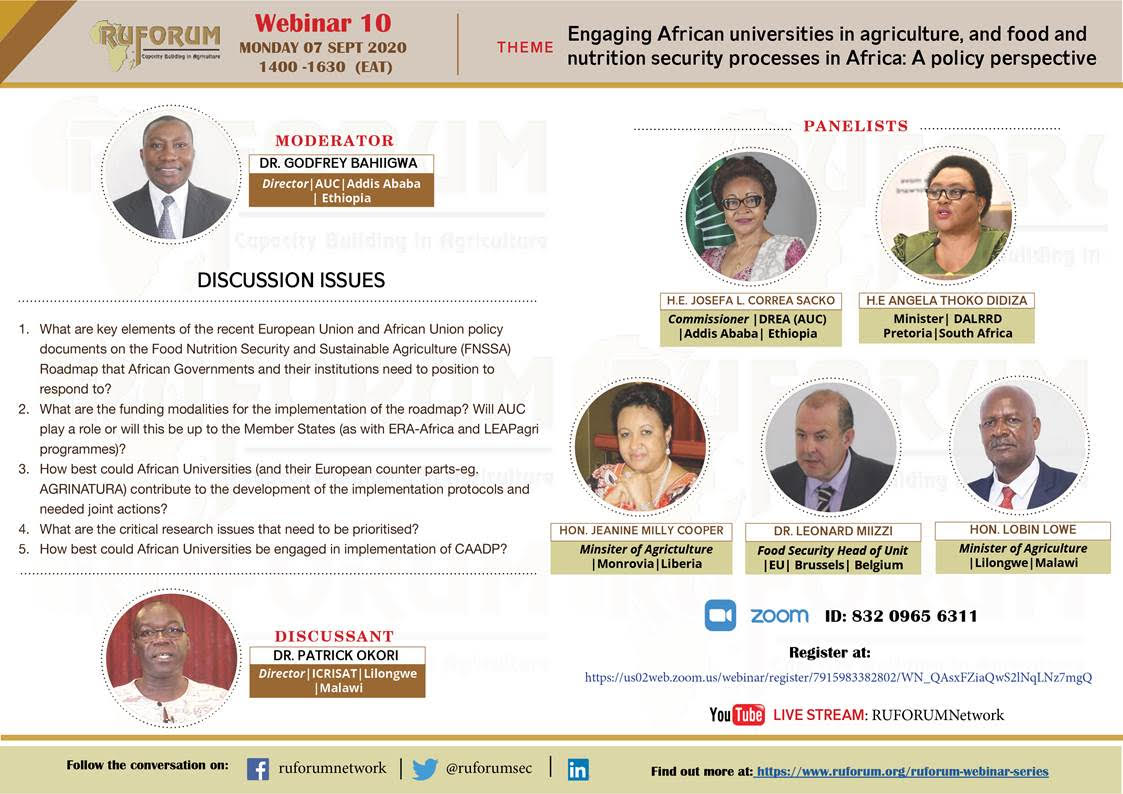 Engaging African Universities in Advancing Agricultural and Food and Nutrition Security in Africa: Policy Perspective