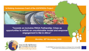 Towards an Inclusive FNSSA Partnership: Crises as opportunities to rethink an unsustainable model and empower engagement in R&I in Africa
