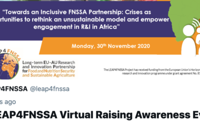 1st LEAP4FNSSA Virtual Raising Awareness Event | A collection of tweets